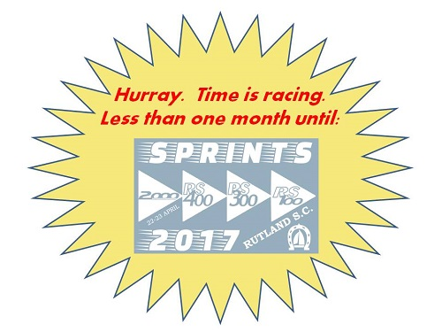 More information on Spring has now sprung. Have you hopped into your boat yet? Jump to it cos it's nearly the Sprints!