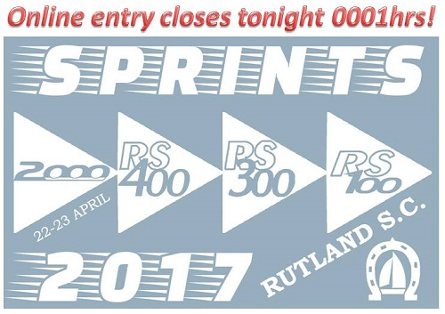 More information on Sprints online entry closes tonight!
