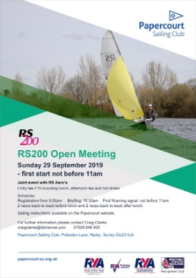 More information on New Event; RS200 Open At Papercourt